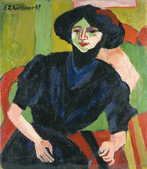 German Expressionist painting by Ernst Ludwig Kirchner Portrait of a Woman
