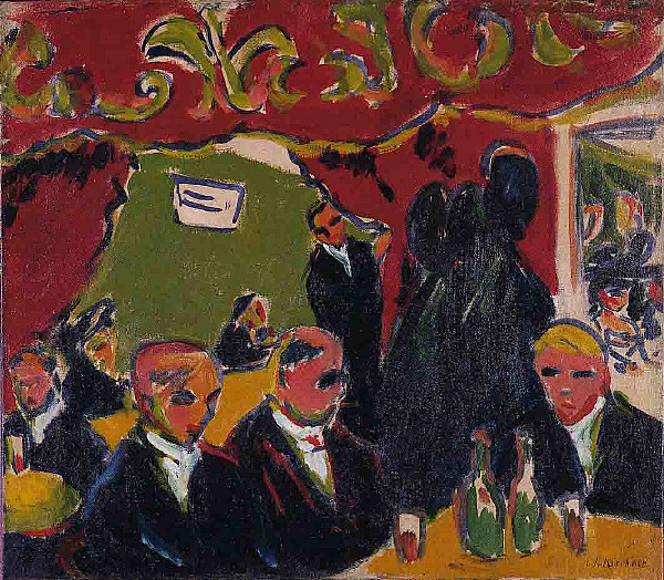 German Expressionist painter Ernst Ludwig Kirchner Tavern