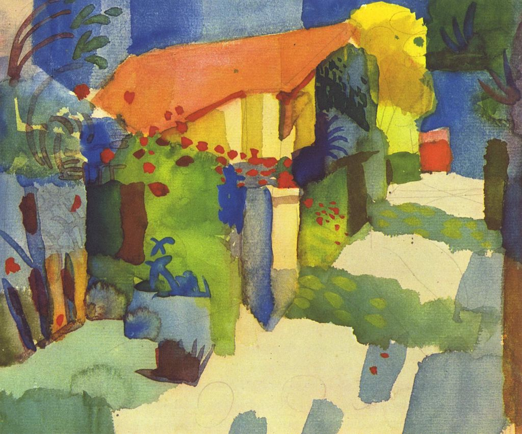 German Expressionist painter, August Macke
