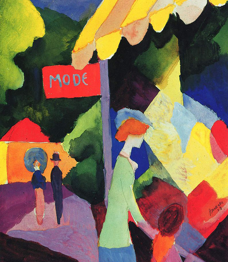German expressionism - German Expressionist painting by August Macke Fashion store window