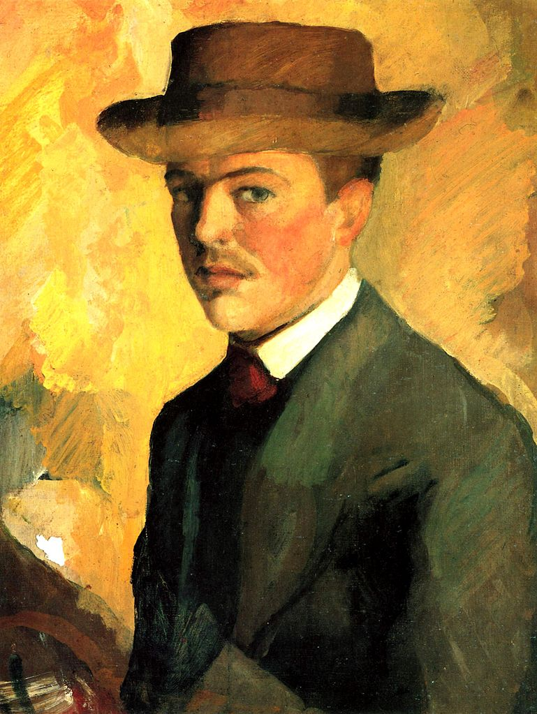 German Expressionist painter August Macke Self Portrait