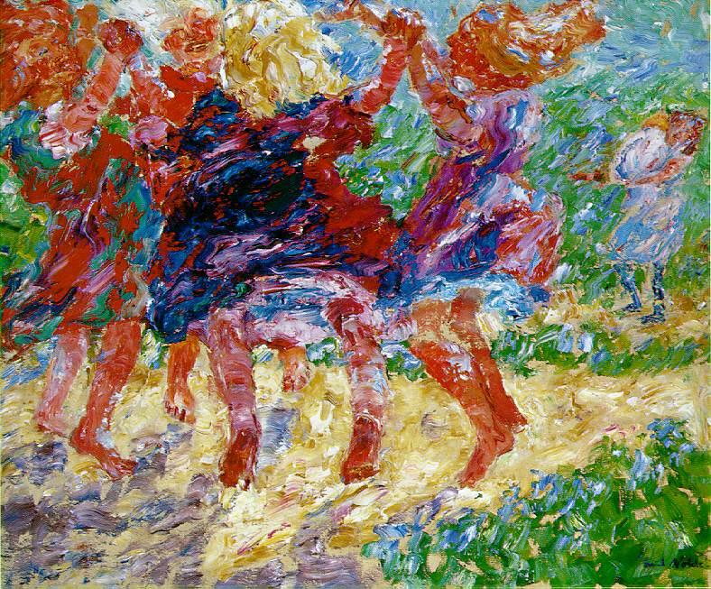 German Expressionist painter Emil Nolde Wildly Dancing Children