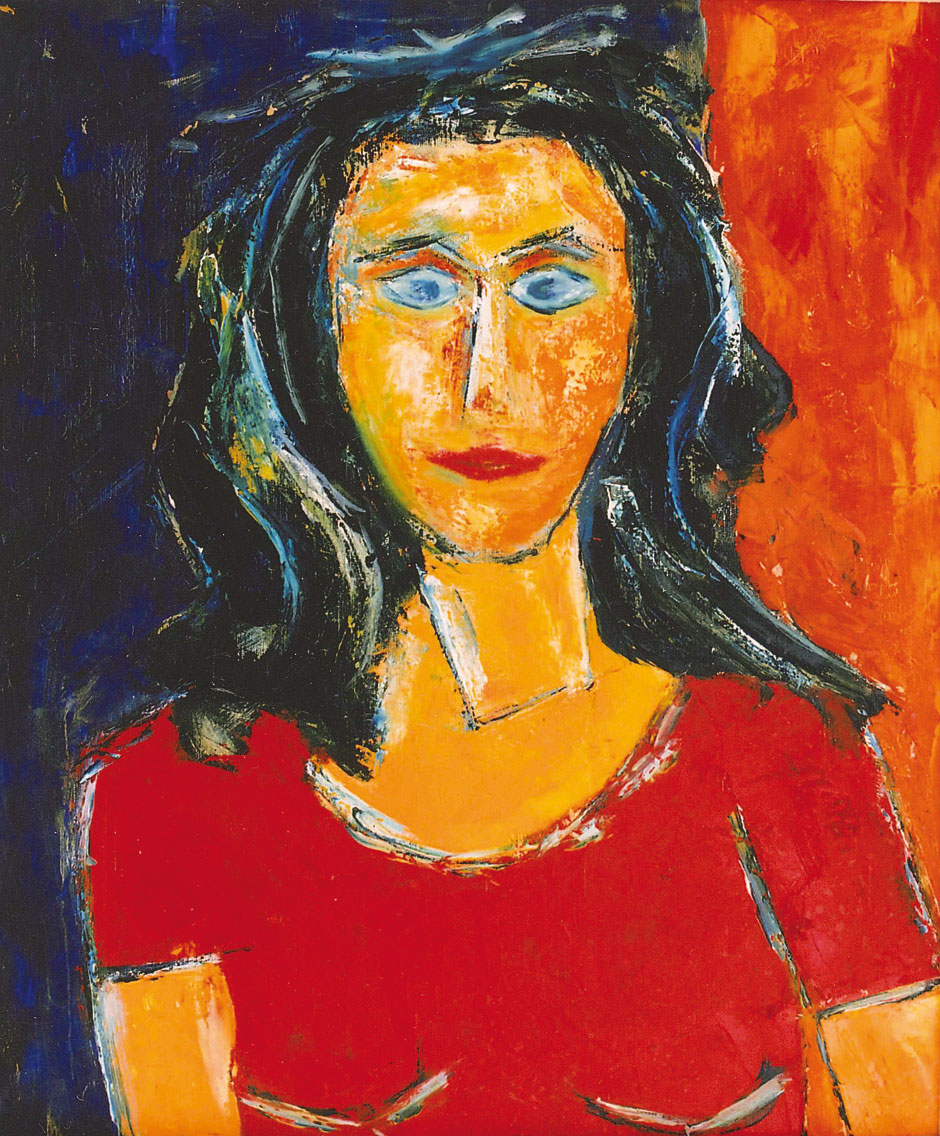 German Expressionism painting by Hubert Roestenburg Portrait Andrea