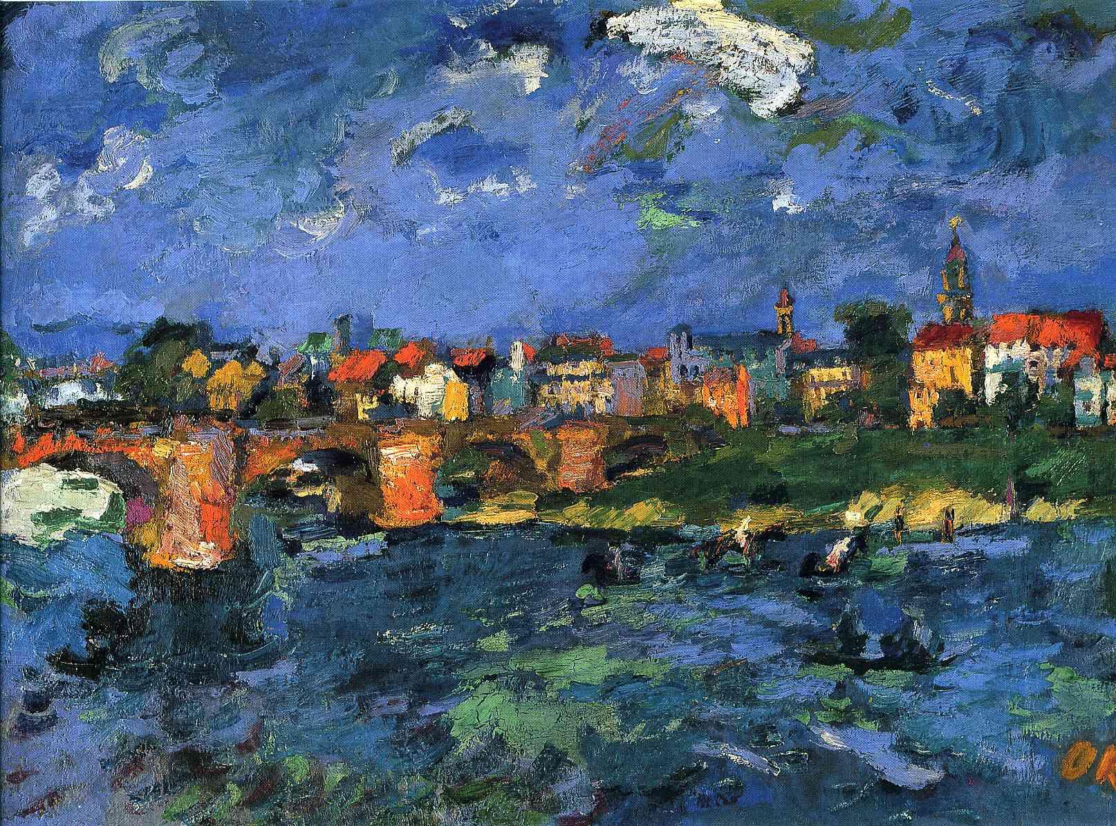 German Expressionist painter Oskar Kokoschka Dresden Neustadt