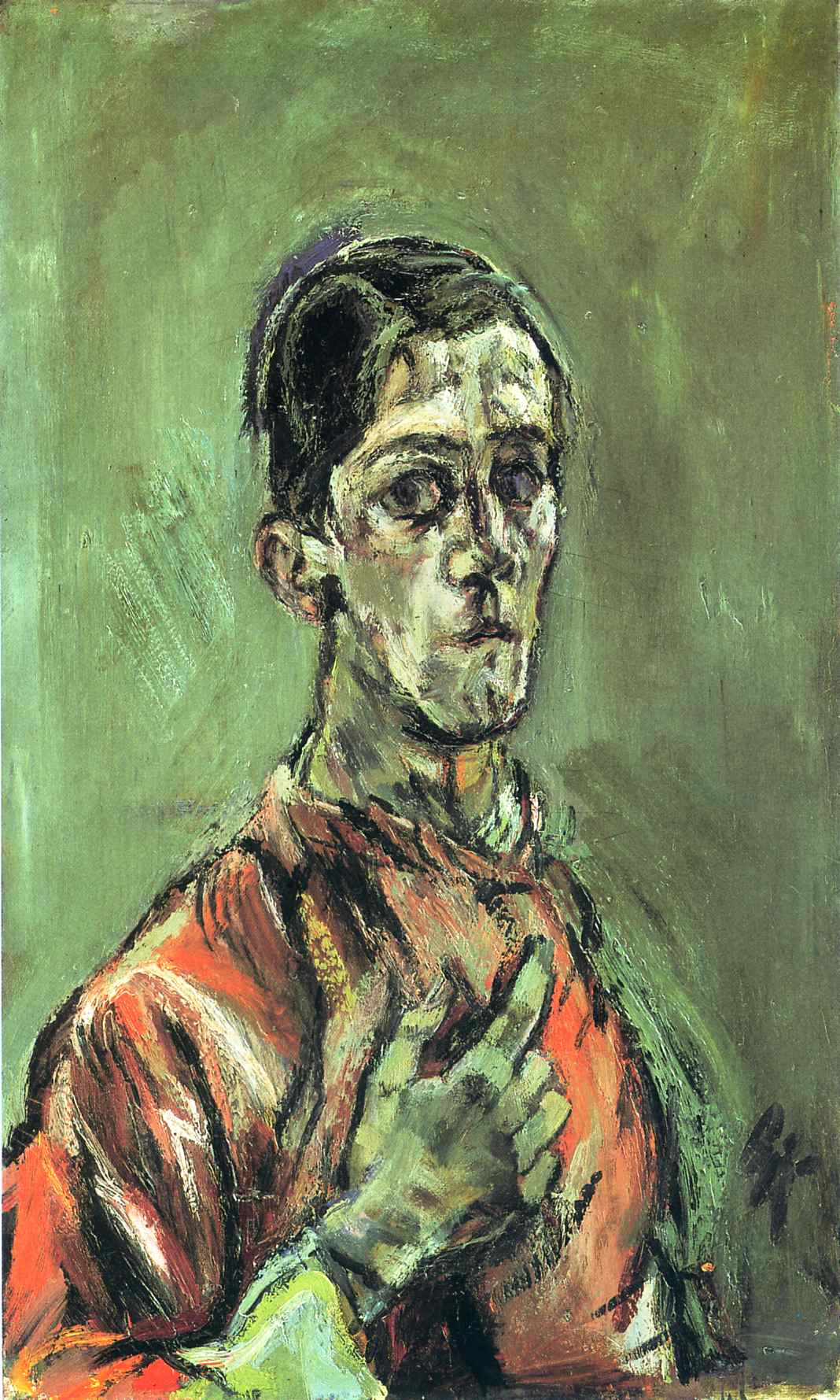 German Expressionist painter Oskar Kokoschka Self Portrait