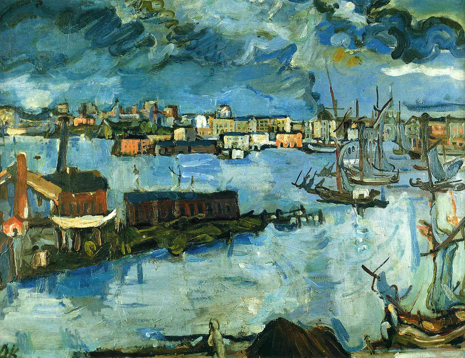 German Expressionist painter Oskar Kokoschka Stockholm Harbour