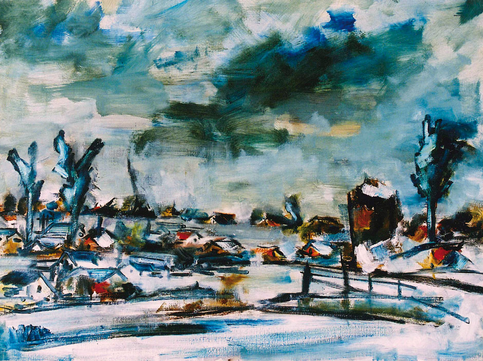 German Expressionism winter landscape by Hubert Roestenburg