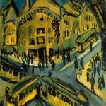 German expressionist painter Ernst Ludwig Kirchner Nollendorf square (Nollendorfplatz)