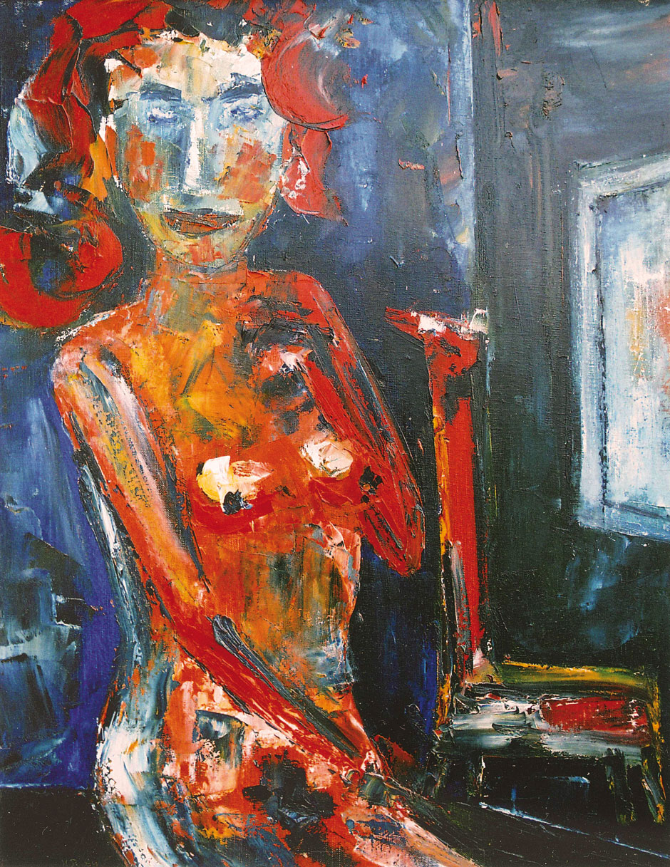 German Expressionism Hubert Roestenburg Nude with prayer chair