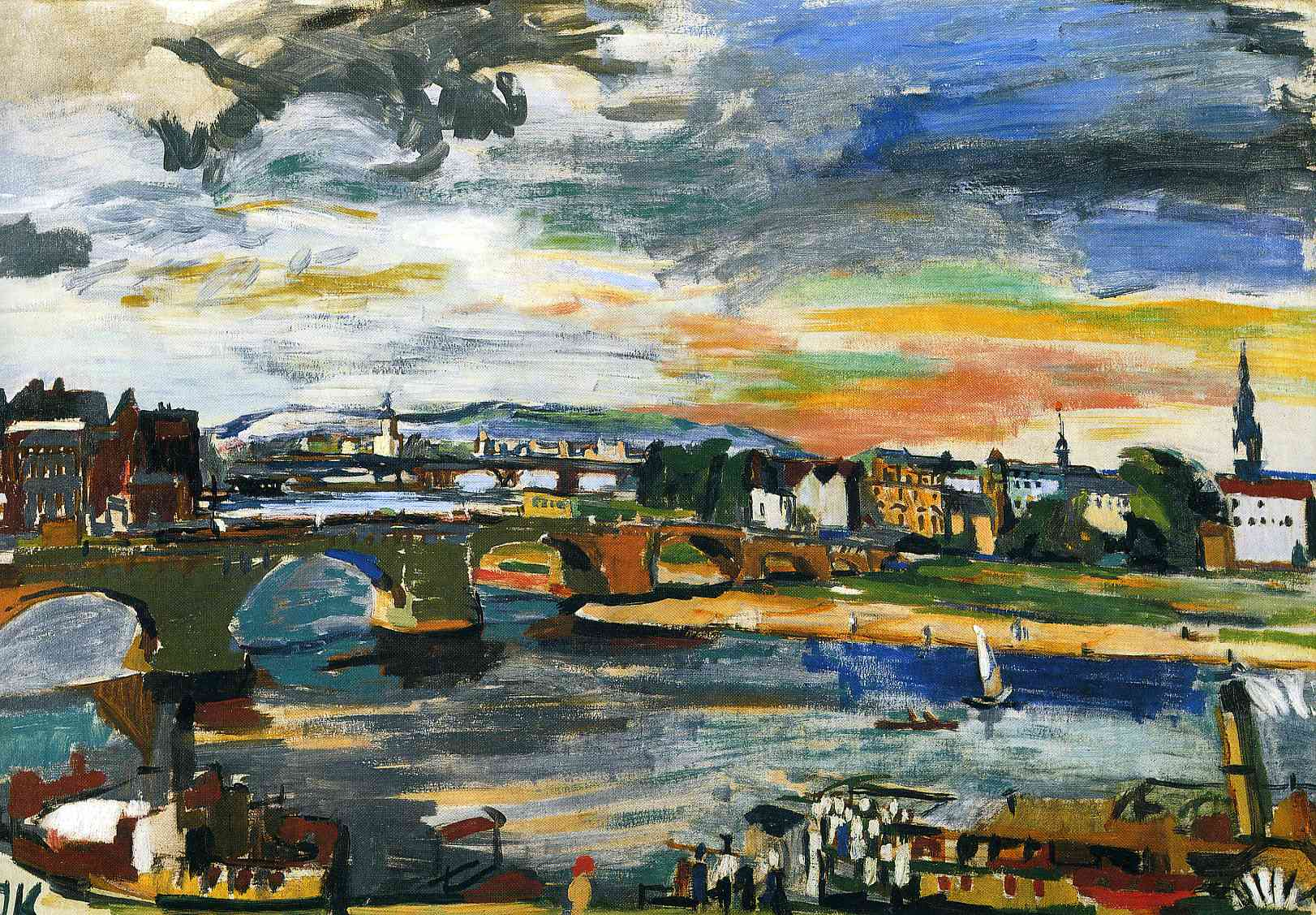 German Expression oskar kokoschka Augustus Bridge Dresden