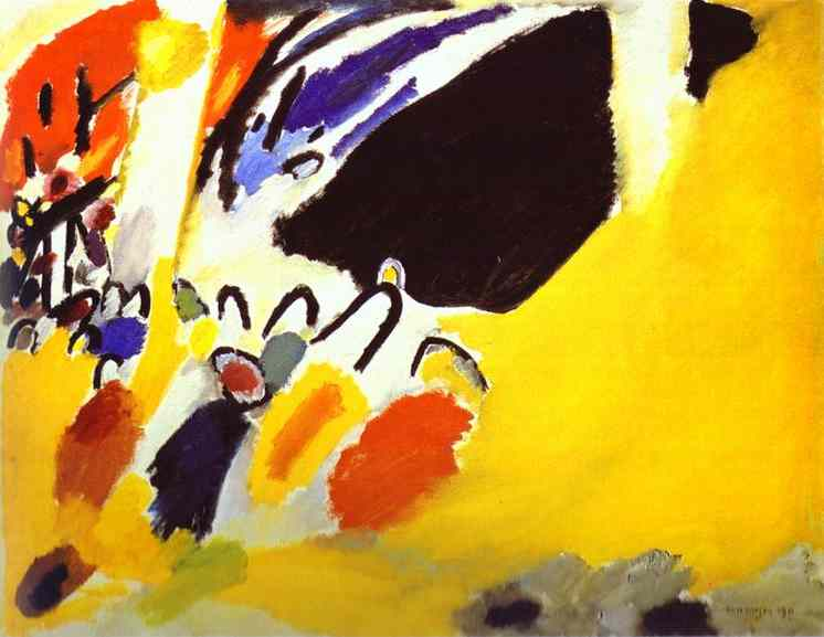 German Expressionist painting by Wassily Kandinsky concert