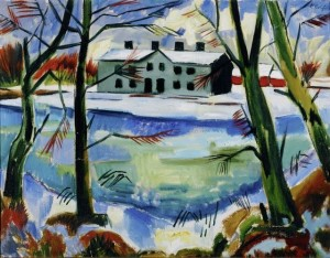 Max Pechstein Melting snow