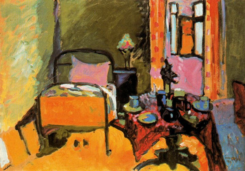 German Expressionism, Wassily Kandinsky Bedroom in Aintmillerstrasse