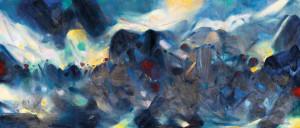 Chu Teh-Chun German Expressionist landscape painting