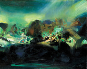 Chu Teh-Chun German Expressionist. landscape painting
