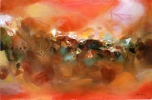 Chu Teh-Chun landscape painting German Expressionism
