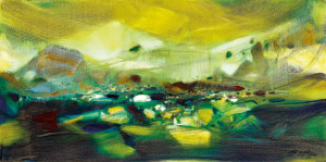Chu Teh-Chun painting landscape German Expressionism