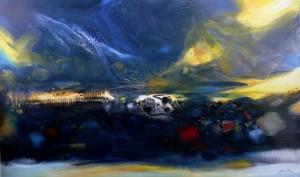ChuTeh-Chun abstract landscape painting